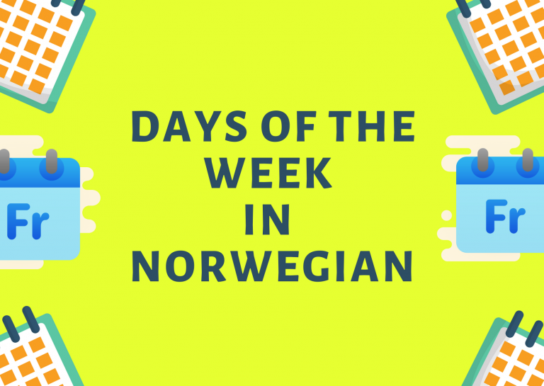 learn_days_in_norwegian
